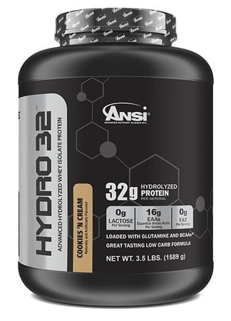 ANSI Hydro 32 Hydrolyzed Whey Isolate Protein Cookies n Cream - 3.5 Lb