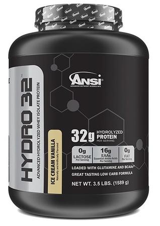 ANSI Hydro 32 Hydrolyzed Whey Isolate Protein Vanilla - 3.5 Lb