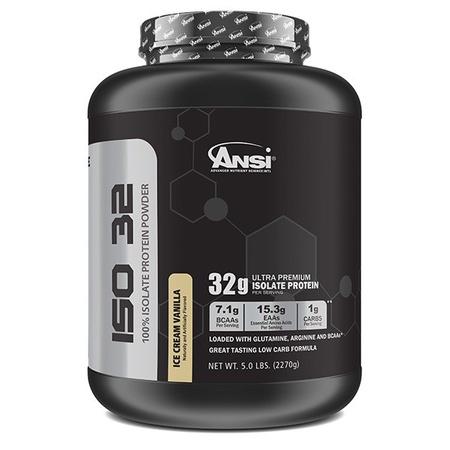 ANSI ISO 32 Isolate Whey Protein Ice Cream Vanilla - 5 Lb