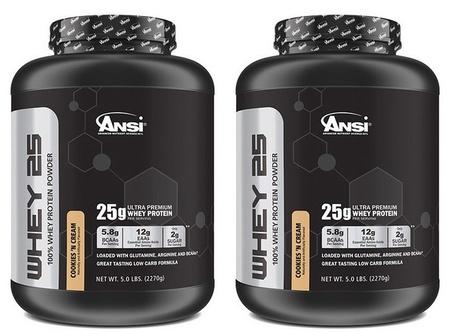ANSI Whey 25 Whey Protein Cookies & Cream - 10 Lb  (2 X 5 Lb)