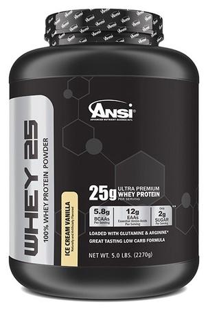 ANSI Whey 25 Whey Protein Vanilla - 5 Lb