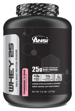 ANSI Whey 25 Whey Protein Strawberries & Cream - 5 Lb
