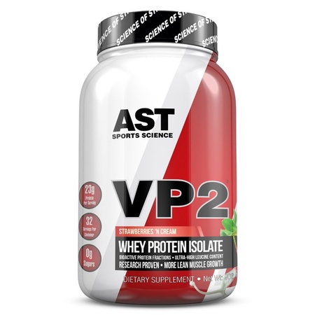 Ast VP2 Whey Protein Isolate - Strawberry - 2 Lb ($29.99 with coupon code DPS10)