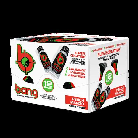 Vpx Bang Shots Peach Mango - 12 Bottles