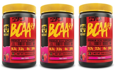Mutant BCAA 9.7 Fruit Punch - 90 Servings ( 3 x 30 servings)