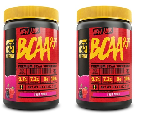 Mutant BCAA 9.7 Fruit Punch - 2 x 30 Servings TWINPACK  (2 for $24.99 w/DPS10 code)