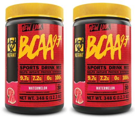 Mutant BCAA 9.7  Watermelon - 2 x 30 Servings TWINPACK  (2 for $24.99 w/DPS10 code)