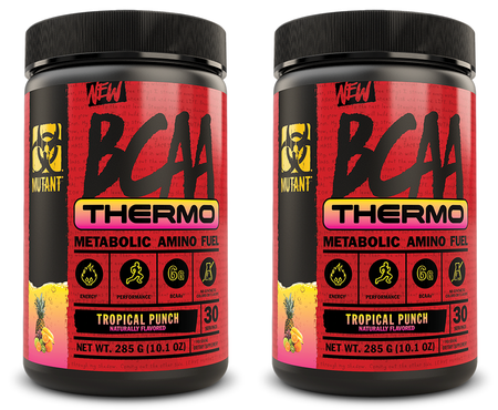 Mutant BCAA THERMO Tropical Punch - 60 Servings (2 x 30 Servings) TWINPACK