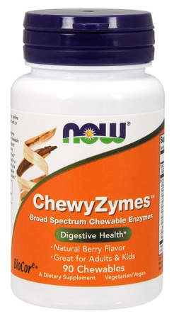 Now Foods ChewyZymes -Digestive Enzyme Formulation - 90 Chewables