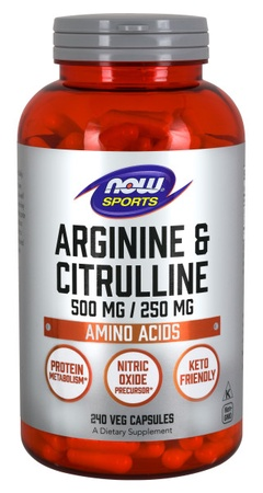Now Foods Arginine & Citrulline - 240 Cap
