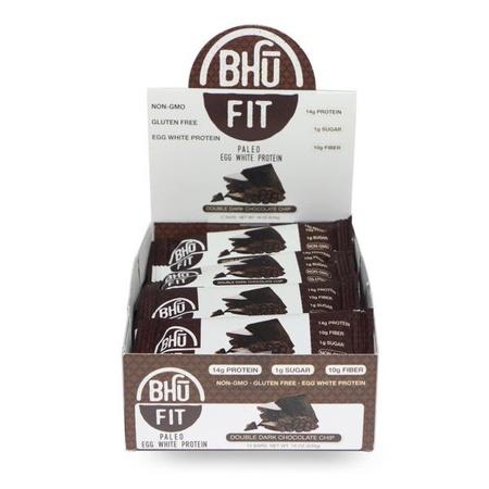 BHU Fit Bar Vegan Superfood Chocolate Chip Cookie Dough  - 12 Bars