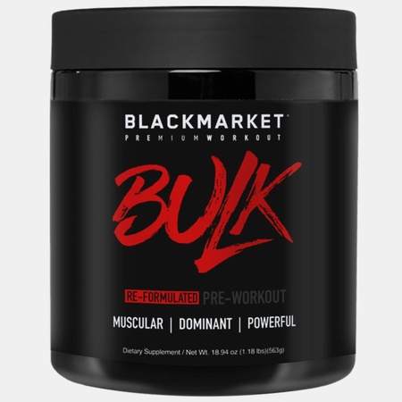 Blackmarket Labs BULK Preworkout Blue Razz - 25 Servings