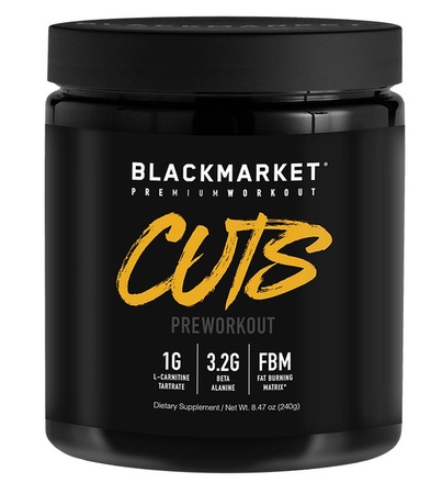 Blackmarket Labs Cuts Preworkout Blue Razz - 30 Servings