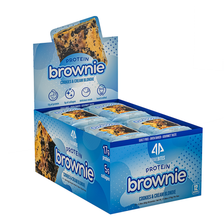 AP Prime Bites Protein Brownie Cookies & Cream Blondie - 12 Pack