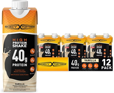 Body Fortress Ready to Drink Protein Shake 40g Protein 11 Fl Oz  Vanilla - 12 Pack ($19.99 w/DPS10 coupon code)