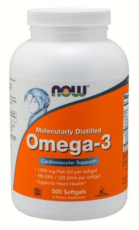 Now Foods Omega 3 1000 Mg - 500 Softgels