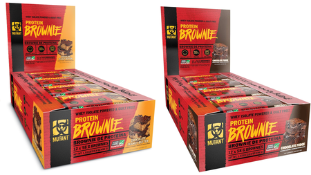 -Mutant Protein Brownies Chocolate Fudge + Chocolate Peanut Butter  - 1 Box of each flavor (2 boxes)  *Expiration date 9/21
