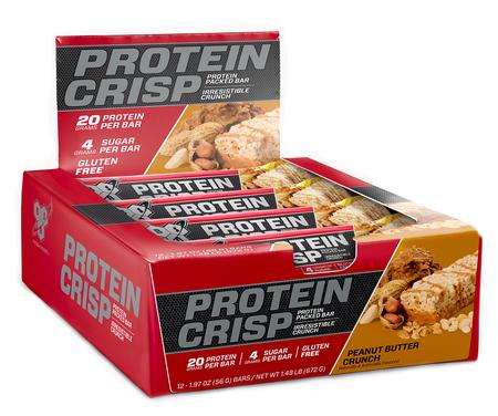 Bsn Syntha-6 Protein Crisp Bars Peanut Butter Crunch - 12 Bars