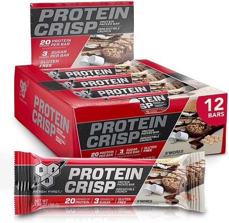 Bsn Syntha-6 Protein Crisp Bars Salted Toffee Pretzel - 12 Bars