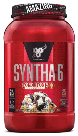 Bsn Syntha-6 Protein Cold Stone Birthday Cake Remix - 2.59 Lb (25 Servings)