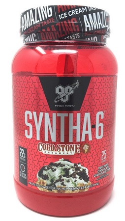 Bsn Syntha-6 Protein Cold Stone Mint Mint Choc Choc Chip - 2.59 Lb (25 Servings)