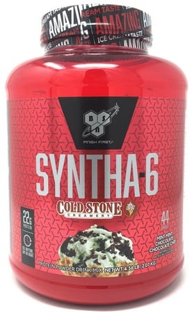 Bsn Syntha-6 Protein Cold Stone Mint Mint Choc Choc Chip - 4.56 Lb (50 Servings)