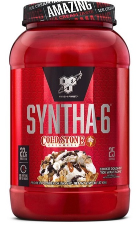 Bsn Syntha-6 Protein Cold Stone Cookie Doughn't You Want Some - 2.59 Lb (25 Servings)