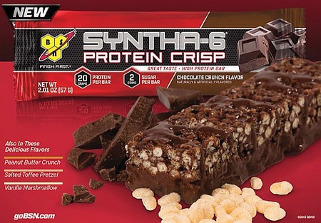 Bsn Syntha-6 Protein Crisp Bars Salted Toffee Pretzel - 12 Bars