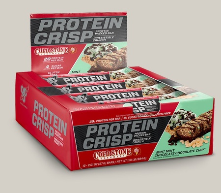 Bsn Syntha-6 Protein Crisp Bars-Cold Stone Mint Mint Choc Chip - 12 Bars