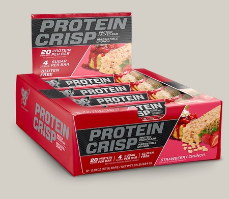 Bsn Syntha-6 Protein Crisp Bars Strawberry Crunch - 12 Bars