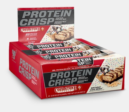 Bsn Syntha-6 Protein Crisp Bars-Cold Stone Birthday Cake - 12 Bars
