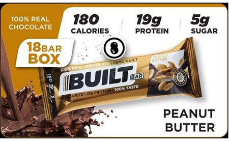 Built Bar Peanut Butter - 18 Bars *Expiration date 8/21