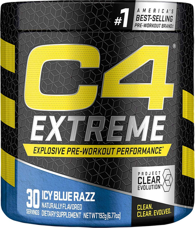 Cellucor C4 Extreme Pre Workout Icy Blue Razz - 30 Servings