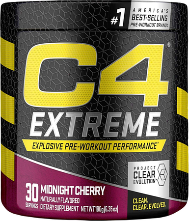 Cellucor C4 Extreme Pre Workout Midnight Cherry - 30 Servings