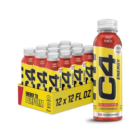 Cellucor C4 Energy On The Go  Fruit Punch - 12 Bottles ($29.99 w/coupon code DPS10)