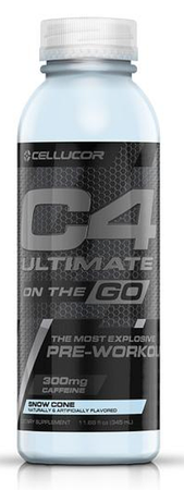 Cellucor C4 Ultimate Energy On The Go  Arctic Snow Code  - 12 Bottles