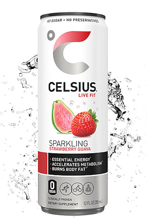 Celsius RTD Sparkling Strawberry Guava - 12 Cans *SPECIAL OFFER