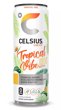 Celsius RTD Tropical Vibe Energy Drink 12oz - 12 Cans