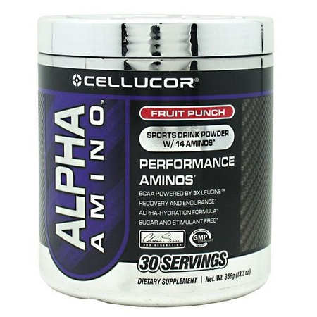 Cellucor Alpha Amino Fruit Punch - 30 Servings