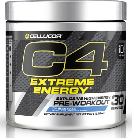 Cellucor C4 Extreme Energy Blue Razz - 30 Servings