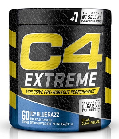 Cellucor C4 Extreme Pre Workout Powder ICY Blue Razz - 60 Servings