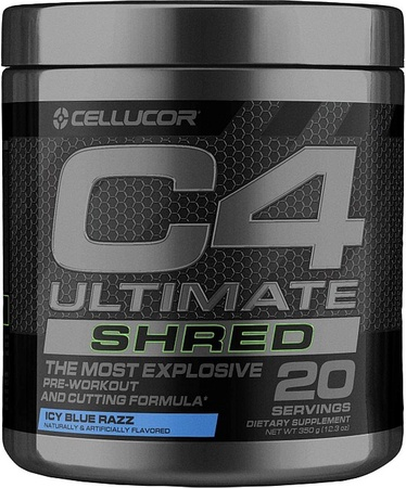 Cellucor C4 Ultimate Shred  Icy Blue Razz - 20 Servings
