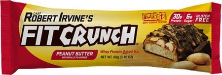 Chef Robert Irvine's Fit Crunch Bars Peanut Butter - 12 Bars