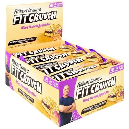 Chef Robert Irvine's Fit Crunch Bars Peanut Butter & Jelly - 12 Bars