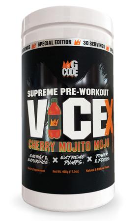 GCode Nutrition Vice X  Pre Workout  Cherry Mojito Mojo - 30 Servings
