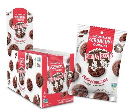 Lenny & Larry's Complete Crunch Cookies Double Chocolate - 12 x 1.25 oz Bags