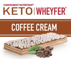 Convenient Nutrition Keto Wheyfer Bars Coffee Cream - 10 Bars