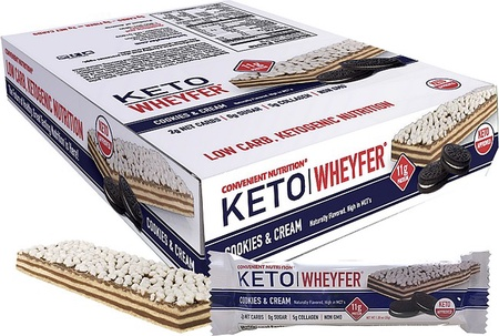 Convenient Nutrition Keto Wheyfer Bars Cookies & Cream - 10 Bars  *Special Offer $10.99 w/coupon code DPS10
