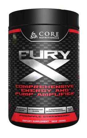 Core Nutritionals FURY X Pineapple Strawberry - 20 Servings