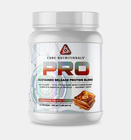 Core Nutritionals PRO Sustained Release Protein Blend Cinnamon French Toast - 2 Lb